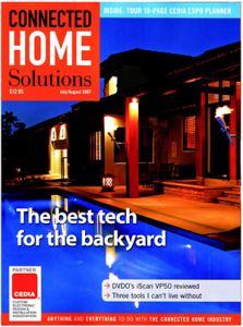 Connected Home Solutions August Cover Outdoor Tech